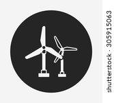 wind energy icon | Shutterstock .eps vector #305915063