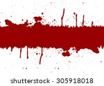 abstract red ink splatter...