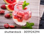 summer fresh fruit flavored... | Shutterstock . vector #305924294