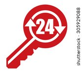 Red 24 Hour Locksmith Key...