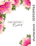 wedding invitation cards with... | Shutterstock .eps vector #305939963
