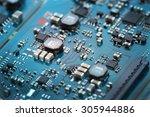 closeup electronic circuit...   Shutterstock . vector #305944886