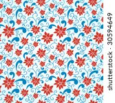 colorful seamless pattern in... | Shutterstock .eps vector #30594649