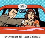 driving school the driver and... | Shutterstock .eps vector #305952518