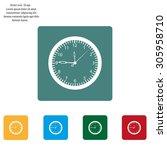 vector clock icon. vector... | Shutterstock .eps vector #305958710
