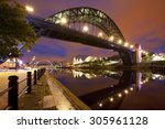 The Tyne Bridge Over The River...