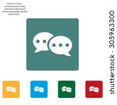 chat flat icon with shadow.... | Shutterstock .eps vector #305963300