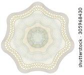 guilloche pattern rosette for... | Shutterstock .eps vector #305968430