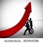 business profits arrow...   Shutterstock . vector #305969288