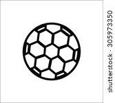 soccer ball icon | Shutterstock .eps vector #305973350