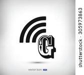 letter g  icon  | Shutterstock .eps vector #305973863