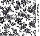 flower illustration pattern | Shutterstock .eps vector #305977784