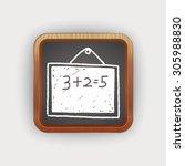 doodle blackboard | Shutterstock . vector #305988830