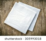 White Paper Napkins On Old...