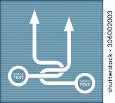 vector flow chart template ... | Shutterstock .eps vector #306002003