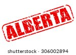 alberta red stamp text on white | Shutterstock .eps vector #306002894