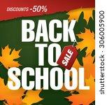 back to school sale banner   Shutterstock .eps vector #306005900