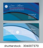 stylish business cards with... | Shutterstock .eps vector #306007370