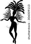 Silhouette Of Samba Dancer