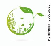 ecology concept. save world | Shutterstock .eps vector #306010910