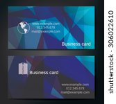 stylish business cards with... | Shutterstock .eps vector #306022610