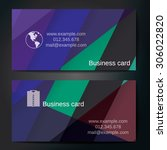stylish business cards with... | Shutterstock .eps vector #306022820