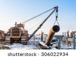 construction of the pipeline.... | Shutterstock . vector #306022934