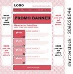 responsive newsletter template... | Shutterstock .eps vector #306028046