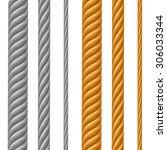 vector set of metal cables...   Shutterstock .eps vector #306033344