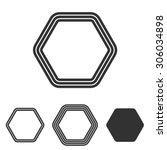 Line hexagon logo design set | Shutterstock vector #306034898
