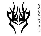 tribal tattoo vector design... | Shutterstock .eps vector #306038468