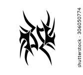 tribal tattoos design element.... | Shutterstock .eps vector #306050774