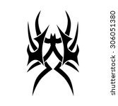 tribal tattoo vector design... | Shutterstock .eps vector #306051380