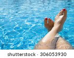 Feet In The Swimming Pool....