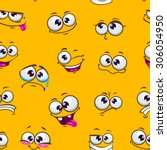 seamless pattern with funny... | Shutterstock .eps vector #306054950