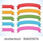 ribbons set | Shutterstock .eps vector #306055076
