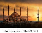 The Blue Mosque In Istanbul...