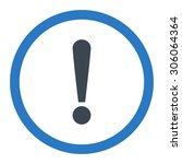 exclamation sign raster icon....   Shutterstock . vector #306064364