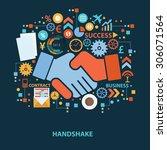 hand shake concept design on...   Shutterstock .eps vector #306071564