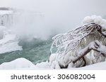 niagara falls in winter | Shutterstock . vector #306082004
