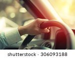 business man driving car.... | Shutterstock . vector #306093188