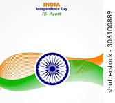 india independence day   Shutterstock .eps vector #306100889