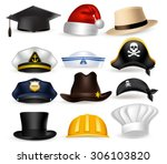 set of 3d realistic... | Shutterstock .eps vector #306103820