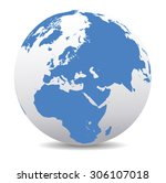 middle east  russia  europe ... | Shutterstock .eps vector #306107018