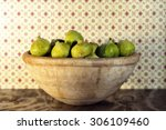 old lebrillo of clay full of... | Shutterstock . vector #306109460