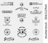 football  soccer badges logos... | Shutterstock .eps vector #306112964
