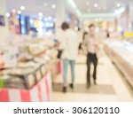 blur people shopping in