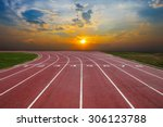 athlete track or running track... | Shutterstock . vector #306123788
