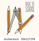 back to school digital design ... | Shutterstock .eps vector #306127298