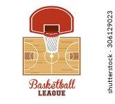 basketball digital design ... | Shutterstock .eps vector #306129023